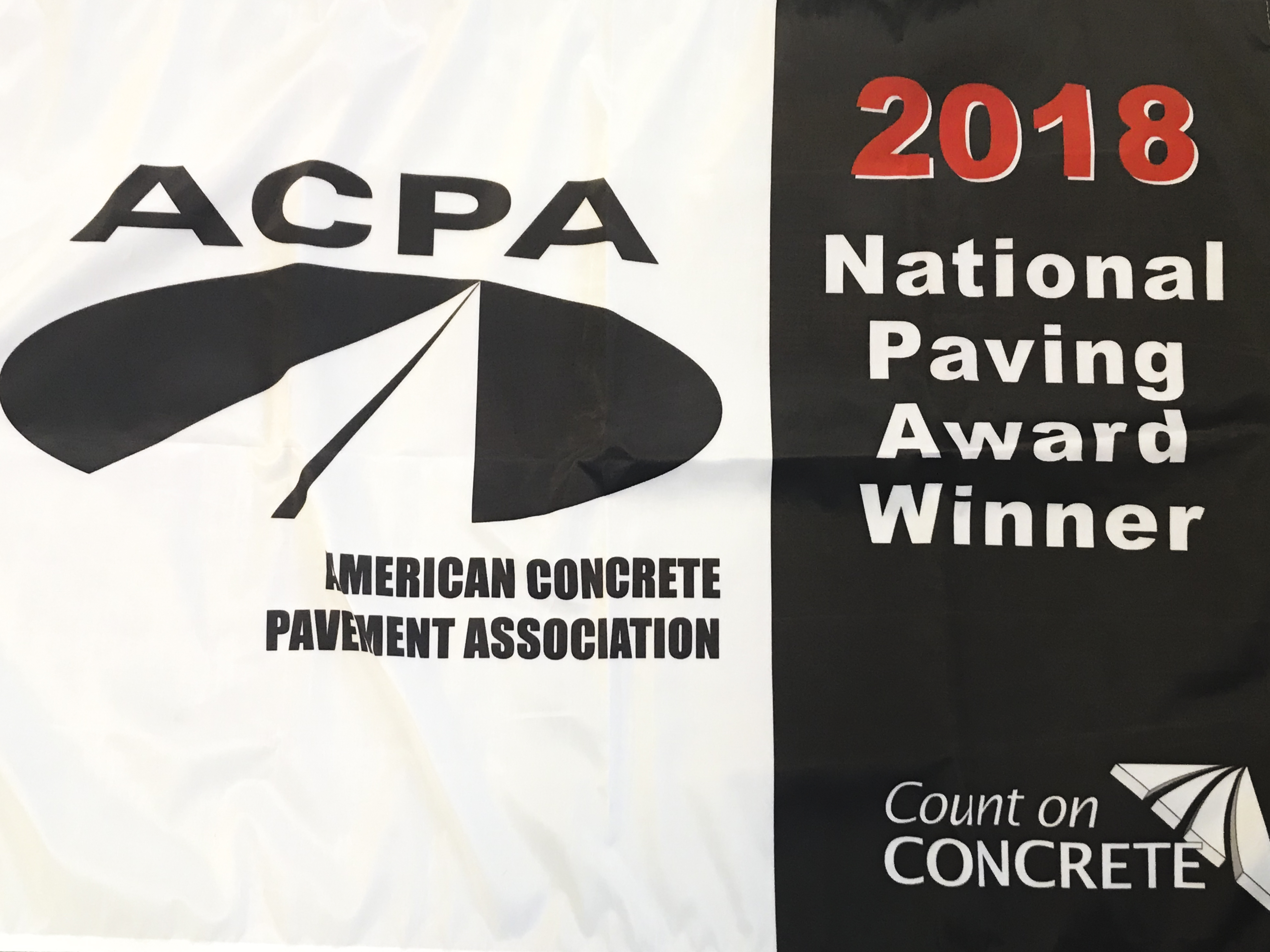 ACPA Flag for 2018 National Paving Award